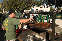 California, San Luis Obispo County: Thursday night festivities in the town of San Luis Obispo, with barbecue and a Farmers' Market..Photo caluis154-70869.Photo copyright Lee Foster, www.fostertravel.com, 510-549-2202, lee@fostertravel.com