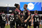 Peterborough's Ivan Toney celebrates his goal during the EFL Sky Bet League 1 match between Portsmouth and Peterborough United at Fratton Park, Portsmouth, England on 7 December 2019.