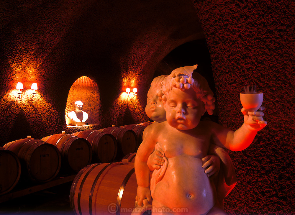 Paoletti Winery cave, Napa Valley, CA.