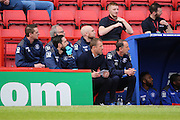 Birmingham City manager Gary Rowett taking notes during the Sky Bet Championship match between Charlton Athletic and Birmingham City at The Valley, London, England on 2 April 2016. Photo by Matthew Redman.