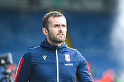 Nathan Jones of Stoke City (Manager) arrives at the ground before the EFL Cup match between Leeds United and Stoke City at Elland Road, Leeds, England on 27 August 2019.