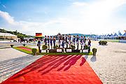 Podium Nations 1 Germany 2. The Netherlands, 3. Sweden<br /> European Championships Dressage U25 2016<br /> © DigiShots