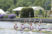 Henley, Great Britain.  Henley Royal Regatta. W4X, Princess Grace Challenge Cup, Princeton Training Center, USA [Berks], and Austrailian Institute of Sport 'A' AUS, [Bucks], power away from the Start, in the Semi-Final. River Thames Henley Reach.  Royal Regatta. River Thames Henley Reach.  Saturday  02/07/2011  [Mandatory Credit  Intersport Images] . HRR
