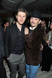 Left to right, STEPHEN BACCARI and MATTHEW WILLIAMSON at the Matthew Williamson London Fashion Week Autumn/Winter 2012 After Party held at Nobu Berkeley, London on 19th February 2012.