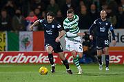 31st October 2018, Kilmac Stadium, Dundee, Scotland; Ladbrokes Premiership football, Dundee v Celtic; Darren O'Dea of Dundee and Mikael Lustig of Celtic