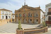 Historic town hall Ayuntamiento building, Cortes de la Frontera, near Ronda, Malaga province, southern Spain