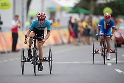 CELEN Tim, T2, BEL, Cycling, Road Race, VONDRACEK David, CZE à Rio 2016 Paralympic Games, Brazil