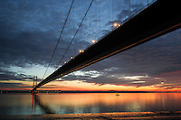 Humber Bridge, November 27, 2014, Hessle, East Yorkshire, UK