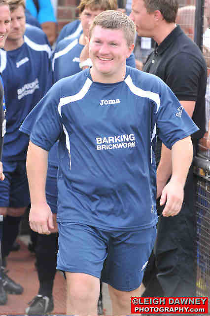 Ricky Hatton at the Indee Rose Charity Football Tournament at Canvey Island Football Club on 25th July 2010. www.theindeerosetrust.org. Photo credit: © Leigh Dawney