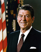 Official Portrait of President Ronald Reagan, 1981. Ronald Wilson Reagan (February 6, 1911 – June 5, 2004) was the 40th President of the United States (1981–1989) and the 33rd Governor of California (1967–1975).