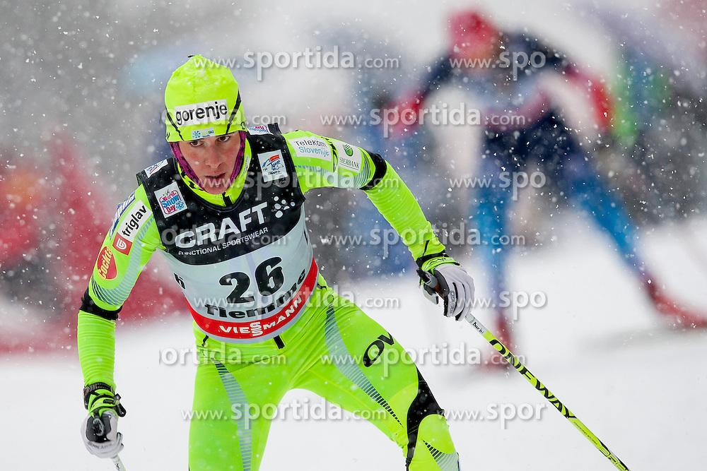 Barbara Jezersek of Slovenia during Womens 9km Classic (Final climb) mass start of the Tour de Ski 2014 of the FIS cross country World cup on January 5th, 2014 in Cross Country Centre Lago di Tesero, Val di Fiemme, Italy. (Photo by Urban Urbanc / Sportida)