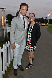 LAUREN SHANAHAN-SMITH and DANIEL O'HANLON at the Chovgan Twilight Polo Gala in association with the PNN Group held at Ham Polo Club, Petersham Close, Richmond, Surrey on 10th September 2014.