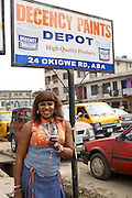 Chika Chukwu set up and runs Decency Paints, which sells paint.<br />