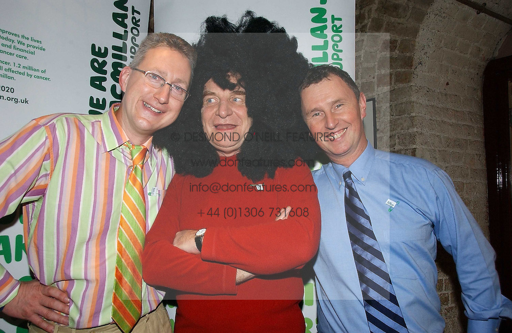 Left to right, LEMBIT OPIK MP, STEPHEN POUND MP and NIGEL EVANS MP at the annual House of Lords and House of Commons Parliamentary Palace of Varieties in aid of Macmillan Cancer Support held at St.John's Smith Square, London W1 on 1st February 2007.<br />