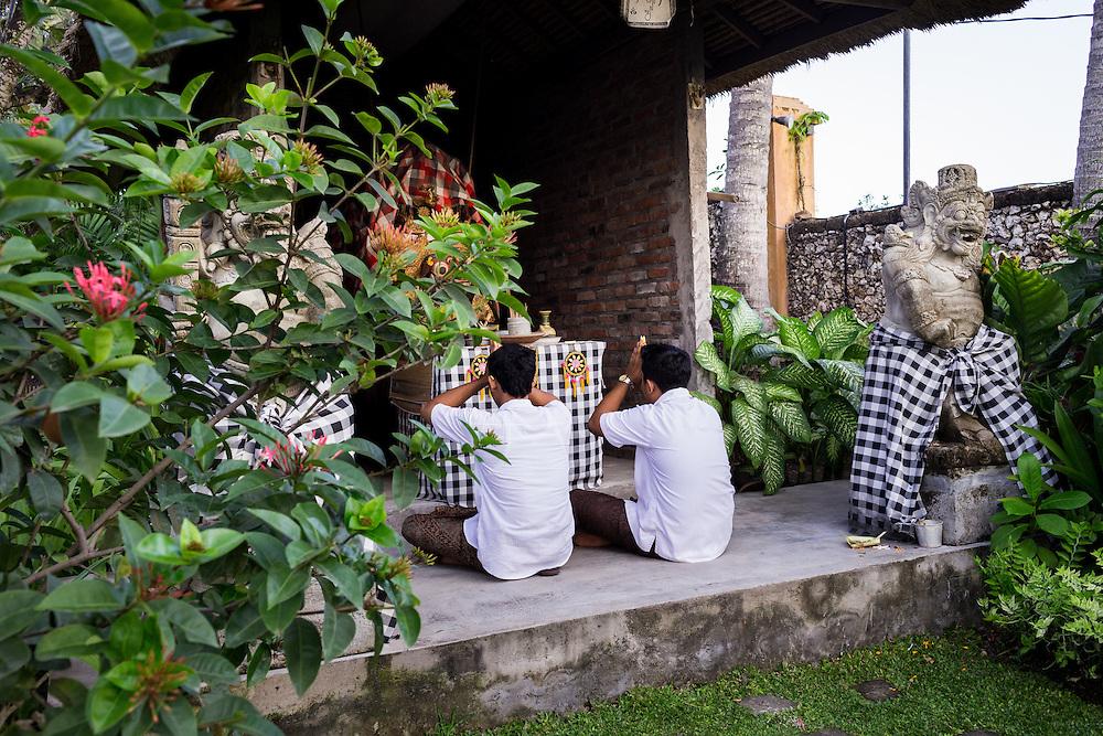 Praying altars at Tugu Hotel Bali.