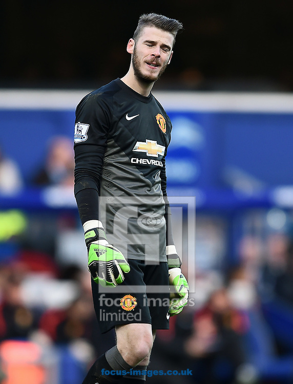 David De Gea of Manchester United during the Barclays Premier League match against Queens Park Rangers at the Loftus Road Stadium, London<br /> Picture by Andrew Timms/Focus Images Ltd +44 7917 236526<br /> 17/01/2015