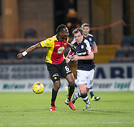 Dundee&rsquo;s Paul McGowan dispossesses Partick Thistle's Abdul Osman- Dundee v Partick Thistle in the Ladbrokes Scottish Premiership at Dens Park, Dundee.Photo: David Young<br /> <br />  - &copy; David Young - www.davidyoungphoto.co.uk - email: davidyoungphoto@gmail.com