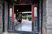 Carved wood doors Interior courtyard, Zhu Family house, Jianshui Ancient Town, Yunnan Province, China