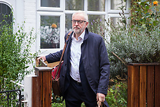 2019-10-23 Jeremy Corbyn leaves to meet Boris Johnson