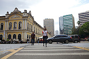 C&A Instituto volunteer, Alyne Garcia Jobim on route to a meeting at the City Hall in Porte Alegre, Brazil.