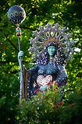 Stock photography of the goddess that overlooks Basin Park in Eureka Springs, Arkansas.