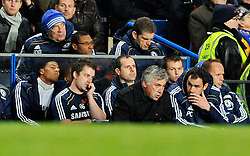 14.11.2010, Stamford Bridge, London, ENG, PL, FC Chelsea vs FC Sunderland, im Bild Chelsea manager Carlo Ancelotti looks on during a 3-0 loss.Chelsea v Sunderland.English Premiership,.Stamford Bridge, London. UK. .14/11/10,. EXPA Pictures © 2010, PhotoCredit: EXPA/ IPS/ Sean Ryan +++++ ATTENTION - OUT OF ENGLAND/UK +++++