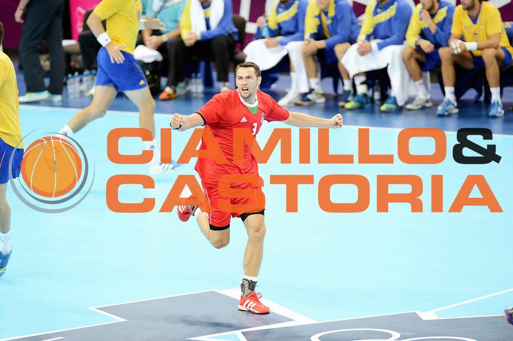 DESCRIZIONE : Handball Jeux Olympiques Londres <br /> GIOCATORE : ILYES Ferenc<br /> SQUADRA : Hongrie<br /> EVENTO : Jeux Olympiques<br /> GARA : Suede Hongrie<br /> DATA : 31 07 2012<br /> CATEGORIA : Handballl Jeux Olympiques<br /> SPORT : HANDBALL<br /> AUTORE : JF Molliere <br /> Galleria : France JEUX OLYMPIQUES 2012 Action<br /> Fotonotizia : France Handball Homme Jeux Olympiques Londres Demi Finale  <br /> Predefinita :