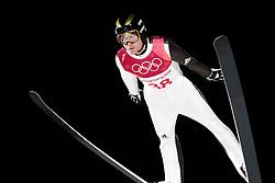 February 17, 2018 - Pyeongchang, SOUTH KOREA - 180217 Jernej Damjan of Slovenia in the men's large hill individual final during day eight of the 2018 Winter Olympics on February 17, 2018 in Pyeongchang..Photo: Carl Sandin / BILDBYRÃ…N / kod CS / 57999_303 (Credit Image: © Carl Sandin/Bildbyran via ZUMA Press)