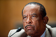 Jul 29, 2010 - Washington, District of Columbia, U.S., -.THURMAN HIGGINBOTHAM, former deputy superintendent of Arlington National Cemetery, appears before a Senate Homeland Security and Governmental Affairs Committee hearing about mismanagement  at Arlington National Cemetery. (Credit Image: © Pete Marovich/ZUMA Press)