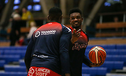 Marcus Delpeche of Bristol Flyers during the warm up - Photo mandatory by-line: Arron Gent/JMP - 28/09/2019 - BASKETBALL - Crystal Palace National Sports Centre - London, England - London City Royals v Bristol Flyers - British Basketball League Cup