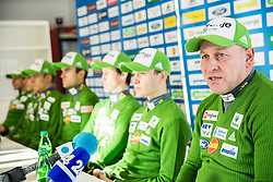 Goran Janus, head coach during press conference of Slovenian Ski jumping team, on December 23, 2014 in Planica, Slovenia. Photo by Vid Ponikvar / Sportida