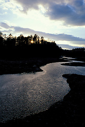 Tidal Estuary. Great Bay. March.  Crommet Creek, Durham, NH