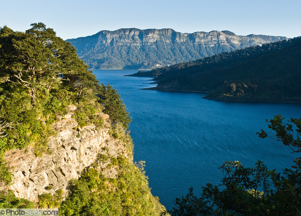 Lake Waikaremoana, in Te Urewera National Park, North Island, New Zealand