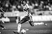 HARRISON, NJ - APRIL 17: Thierry Henry #14 of New York Red Bulls takes a shot on goal during the game against the Sporting KC at Red Bulls Arena on April 17, 2013. (Photo By: Rob Tringali)