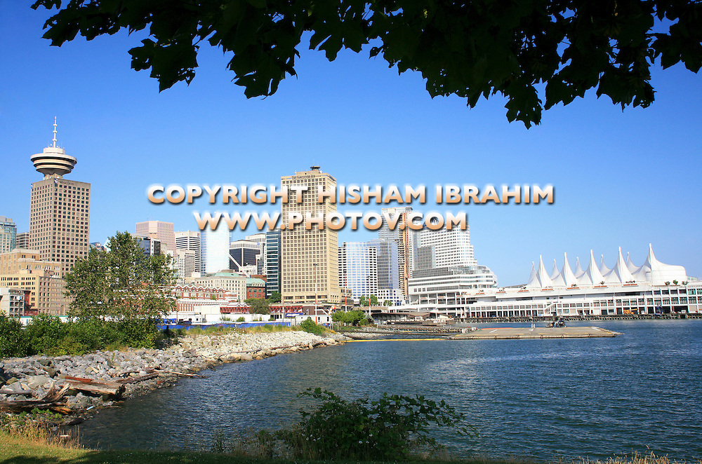 Canada Place and Vancouver Skyline-Vancouver, Canada