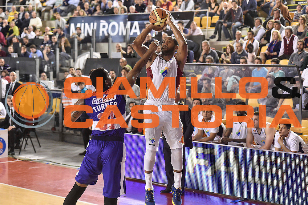 DESCRIZIONE : Campionato 2014/15 Virtus Acea Roma - Enel Brindisi<br /> GIOCATORE : Austin Freeman<br /> CATEGORIA : Tiro Tre Punti Three Points<br /> SQUADRA : Virtus Acea Roma<br /> EVENTO : LegaBasket Serie A Beko 2014/2015<br /> GARA : Virtus Acea Roma - Enel Brindisi<br /> DATA : 19/04/2015<br /> SPORT : Pallacanestro <br /> AUTORE : Agenzia Ciamillo-Castoria/GiulioCiamillo