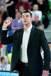 Vladimir Jovanovic, head coach of Partizan, during final match of Basketball NLB League at Final Four tournament between KK Union Olimpija (SLO) and Partizan Belgrade (SRB), on April 21, 2011 at SRC Stozice, Ljubljana, Slovenia. (Photo By Matic Klansek Velej / Sportida.com)