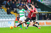 Yeovil Town's Francois Zoko and Oxford Utd's John Lundstram during the Sky Bet League 2 match between Yeovil Town and Oxford United at Huish Park, Yeovil, England on 28 December 2015. Photo by Graham Hunt.