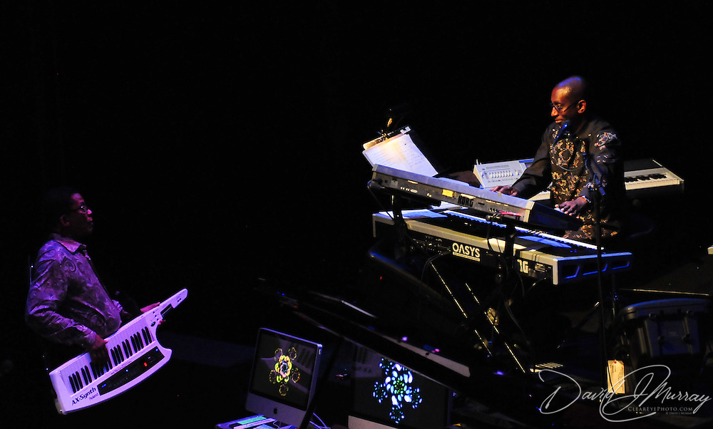 Greg Phillinganes (R), and Herbie Hancock
