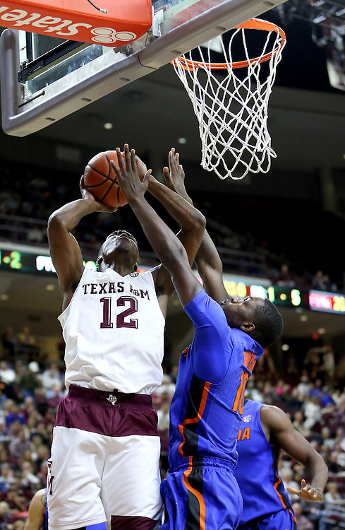 Texas A&M Florida NCAA college basketball game, Tuesday, Jan. 12, 2016, in College Station, Texas.