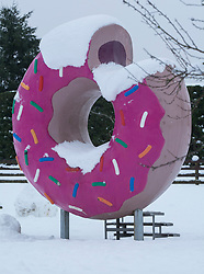 Snowy frosting on a giant doughnut at Springfield, inland Canterbury, New Zealand, Thursday, July 13, 2017. Credit:  SNPA / David Alexander -NO ARCHIVING-