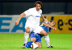 Danijel Brezic of Celje vs Dalibor Teinovic of Domzale during the football match between NK Domzale and MIK CM Celje, played in the 10th Round of Prva liga football league 2010 - 2011, on September 22, 2010, Spors park, Domzale, Slovenia. Domzale defeated Celje 1 - 0. (Photo by Vid Ponikvar / Sportida)