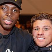 NLD/Almere/20190117 - Stare down van Boxing Influencers, Braboneger, echte naam Steven Brunswijk en zijn trainer