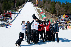 Team Norway with coach Mika Kojonkoski during Flying Hill Individual Final Round at 4th day of FIS Ski Jumping World Cup Finals Planica 2011, on March 20, 2011, Planica, Slovenia. (Photo By Matic Klansek Velej / Sportida.com)