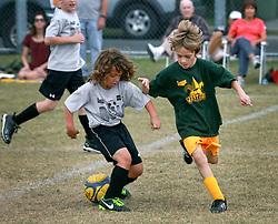 16 November 2013. Carrolton Boosters Soccer. New Orleans, Louisiana. <br /> U8 Jesters v Bulls.<br /> Photo; Charlie Varley