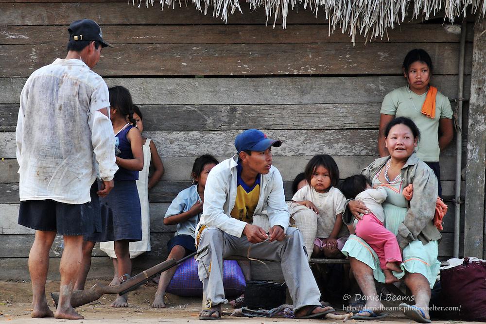 Yuracare family near San Lorenzo, Beni, Bolivia