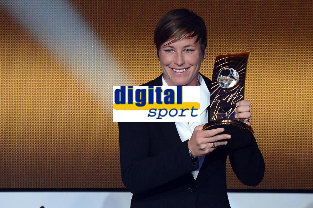 Zuerich, 7.1.2013, FIFA Ballon d'Or 2012, Abby Wambach gewinnt den FIFA Ballon d`or  (Melanie Duchene/EQ Images)