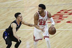 March 15, 2019 - Los Angeles, California, U.S - Chicago Bulls' Otto Porter Jr. (22) in actions during an NBA basketball game between Los Angeles Clippers and Chicago Bulls Friday, March 15, 2019, in Los Angeles. The Clippers won 128-121. (Credit Image: © Ringo Chiu/ZUMA Wire)