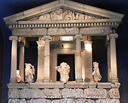 The Nereid Monument, Lycia, Anatolia, Turkey. Classical Greek. c.400BC The Nereid's form part of the decoration of a monumental temple-like tomb (The Nereid Monument). The Nereids, numbering between 50 and 100, were daughters of the sea-deities Nereus and Doris. They were popular figures in Greek literature, believed to be personifications of the waves of the ocean, and benign toward humanity. The best known of the Nereids were Amphitrite, consort of Poseidon (a sea and earthquake god), Thetis (wife of Peleus, king of the Myrmidons, and mother of the hero Achilles) and Galatea.