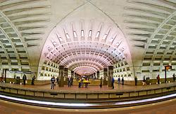 Washington DC metro train tunnel